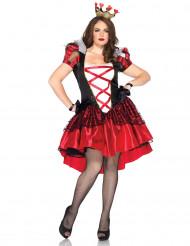 Déguisement reine de coeur grande taille avec corset femme