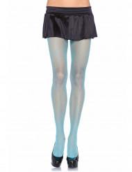 Collants résille bleue femme