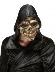 Masque latex tête de mort des tènèbres adulte Halloween