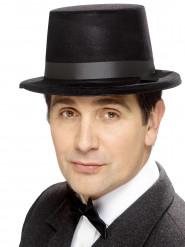 Chapeau haut-de-forme ruban noir adulte