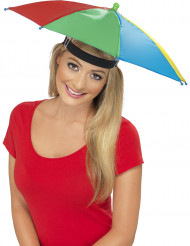 Chapeau parapluie multicolore adulte