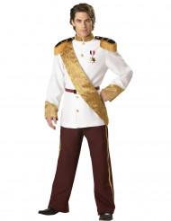 Déguisement Prince pour homme blanc et marron - Premium