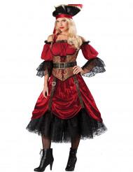Déguisement Pirate avec corset pour femme - Premium