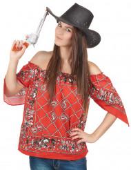 T-shirt cowboy femme