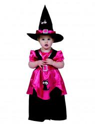 Déguisement petite sorcière rose fille Halloween