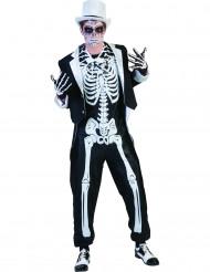 Déguisement squelette chic homme Halloween