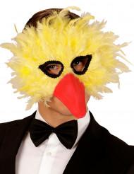 Masque à plumes oiseau jaune adulte