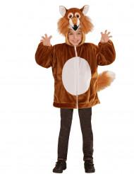 Veste à capuche renard enfant