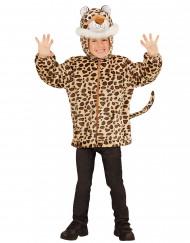 Veste à capuche léopard enfant