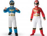 Pack déguisements Power Rangers™ rouge et bleu enfant Coffret