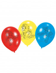 6 Ballons en Latex Pat