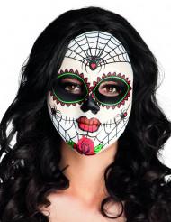 Masque coloré araignées adulte Dia de los muertos