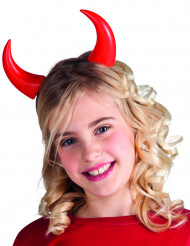 Cornes rouges enfant Halloween