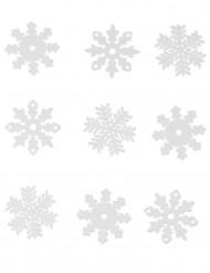 9 Flocons des neiges en feutrine Noël