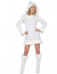 Déguisement esquimau blanc sexy femme