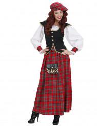 Déguisement écossaise robe longue femme