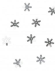 Confettis de table flocons de neige argent 10 gr