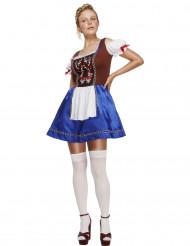 Déguisement serveuse bavaroise bleue femme
