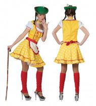 Déguisement tyrolienne jaune femme
