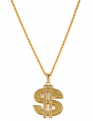 Collier Dollar en métal Adulte