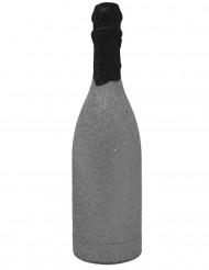 Canon à confettis bouteille pailletée argent