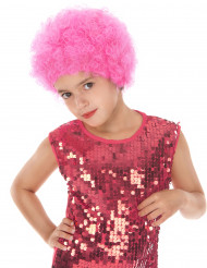 Perruque disco enfant rose
