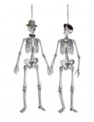 Décoration squelettes rétro Mr & Mrs 1,5 m