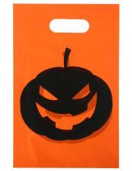 10 Sacs Citrouille Halloween 16.5 x 23 cm