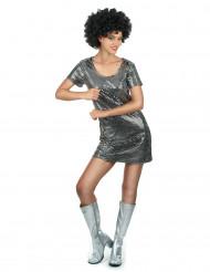 Déguisement robe disco argentée
