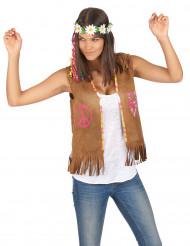 Gilet hippie femme 55 cm