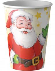 8 Gobelets Père Noël 20 cl