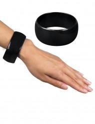 Bracelet large noir femme
