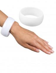 Bracelet large blanc femme