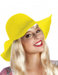 Chapeau estival jaune femme