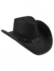 Chapeau cowboy noir adulte