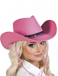 Chapeau cowboy rose adulte