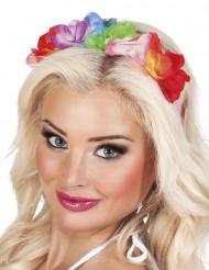 Serre tête couronne de fleurs Hawaï adulte