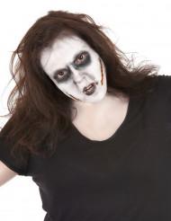 Kit maquillage visage blessé avec lentilles fantaisie adulte Halloween