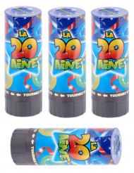 4 Canons à confettis anniversaire 20 ans