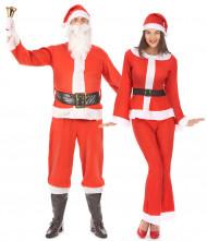 Déguisement de couple Père et Mère Noël adultes