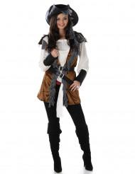 Déguisement Pirate avec gilet femme