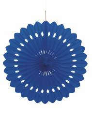 Rosace en papier bleu nuit 40 cm