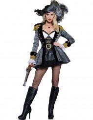 Déguisement Pirate des hautes mers femme - Premium