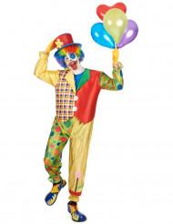 Déguisement clown bariolé homme