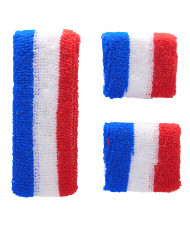 Bandeau et manchettes supporter France adulte
