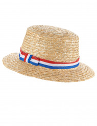 Chapeau canotier supporter France adulte