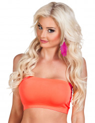 Bandeau stretch orange fluo femme