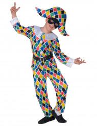 Déguisement arlequin multicolore enfant