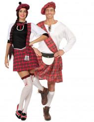 Déguisement de couple écossais courts adultes