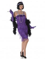 Déguisement charleston violet femme
